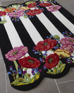 "MacKenzie-Childs ""Poppy Field"" Rug"
