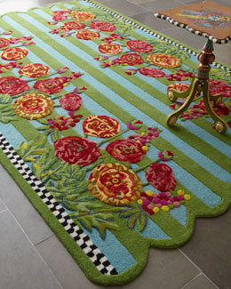 "MacKenzie-Childs ""Garden Path"" Rug"