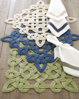 """Gazebo"" Placemats & Ribbon Napkins"