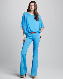 Alice + Olivia Katie Flowy Top & Stacey Bell Pants