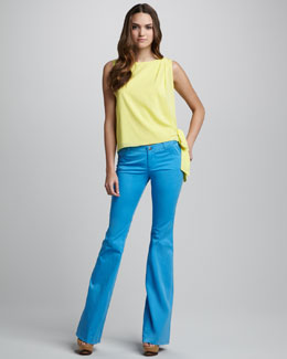 Alice + Olivia Ginny Side-Tie Blouse & Stacey Bell Pants