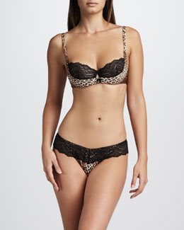 Cosabella Kitty Underwire Bra & Low-Rise Thong