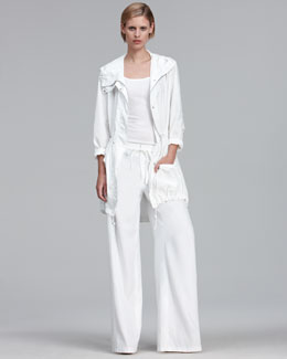 Vince Casual Anorak & Wide-Leg Drawstring Pants