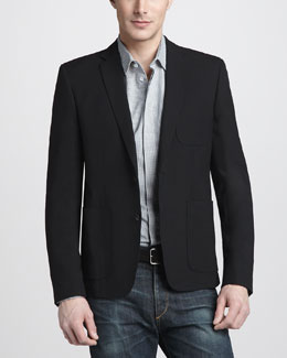 Rag & Bone Dagger Blazer & Julius Check Shirt