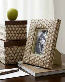 Star-Weave Desk Boxes & Picture Frame