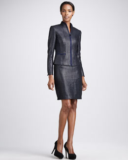 Elie Tahari Romy Jacket & Bennet Pencil Skirt