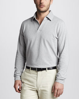 Loro Piana Long-Sleeve Polo