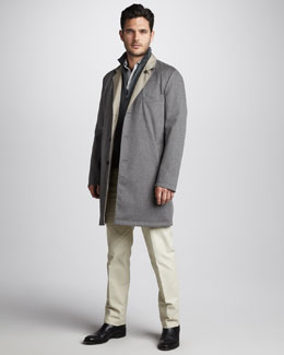 Loro Piana Reversible Cashmere Coat & Cashmere/Silk Sweater