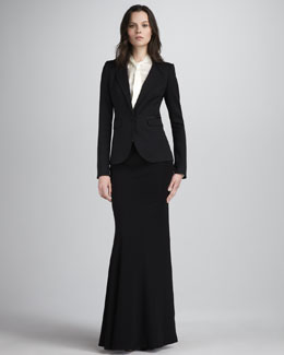 Rachel Zoe Hutton Tuxedo Jacket, Alia Flared Maxi Skirt & Sawyer Tie-Collar Blouse