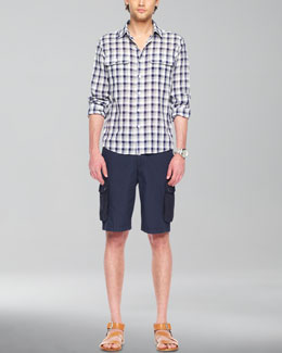 Michael Kors  Check Button Shirt & Cargo Shorts
