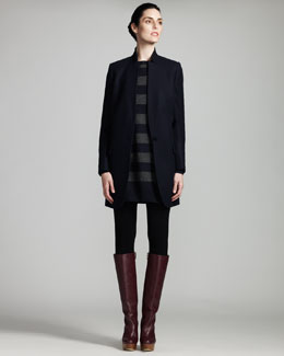 Stella McCartney Long Jacket, Striped Tunic & Knit Leggings