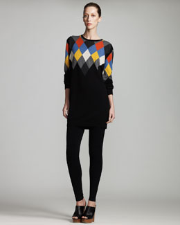 Stella McCartney Argyle Sweaterdress & Knit Leggings