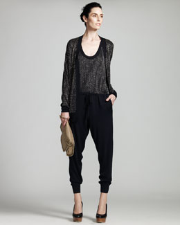 Stella McCartney Beaded Cardigan & Jumpsuit