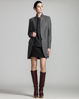 Stella McCartney Stand-Collar Jacket, Printed Jacquard Top & Miniskirt