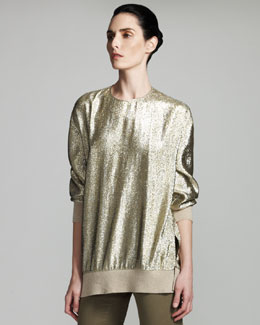 Stella McCartney Metallic Sweatshirt & Skinny Jeans