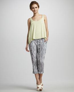 Ella Moss Wren Double-Layer Tank & Aztec Printed Pants
