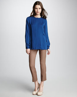 Diane von Furstenberg New Billow Blouse & Georgine Slim Cropped Pants