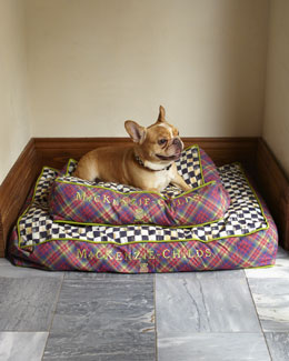 MacKenzie-Childs Tartan Check Pet Beds