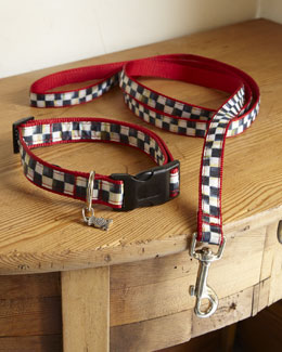 MacKenzie-Childs Courtly Check Pet Collar & Leash