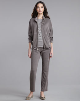 St. John Collection Jersey Jacket, Striped Reversible Shirt & Jersey Cropped Pants