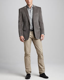 Ralph Lauren Black Label Corduroy Sport Coat, Sport Shirt & Five-Pocket Pants
