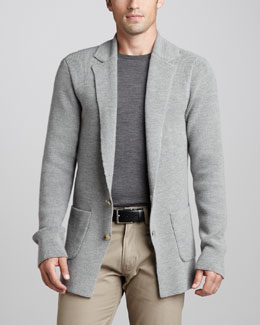 Ralph Lauren Black Label Two-Button Cardigan Jacket & Merino Crewneck Sweater