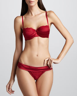 La Perla Lipstick Fever Demi Bra & Thong, Red