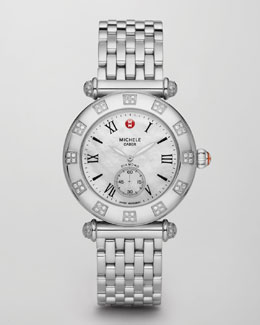 Michele Caber Diamond Watch Head & Stainless Steel Bracelet Strap