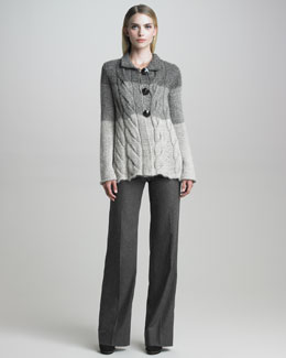 Armani Collezioni Cabled Cardigan Jacket, Cap Sleeve Tee & Pants