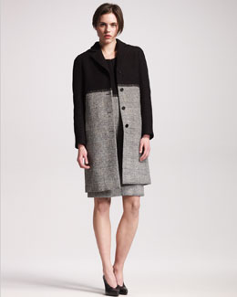 Jil Sander Check Coat & Check-Skirt Dress