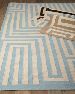 "Exquisite Rugs ""Graphic Maze"" Flatweave Rug"