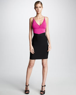 Herve Leger Spaghetti-Strap Top & Bandage Pencil Skirt