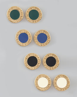 Tory Burch Cole Logo Stud Earrings