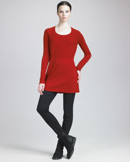 Donna Karan Ribbed-Knit Tunic & Seamed Leggings