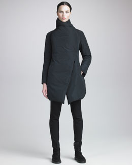 Donna Karan Taffeta Puffer & Seamed Leggings