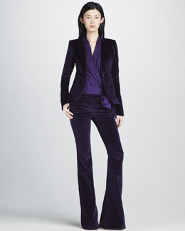 Rachel Zoe Hutton Velvet Blazer, Pants & Annelise Wrap Top