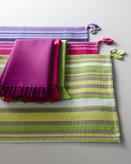 "SFERRA ""San Marcos"" Striped Placemats & Solid Napkins"