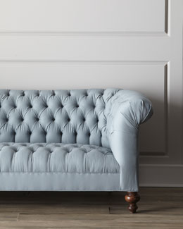 "Old Hickory Tannery ""Ellsworth"" Tufted Sofa"