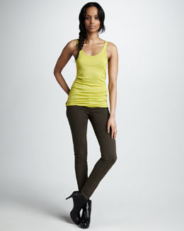 Vince Favorite Tank & Five-Pocket Skinny Jeans