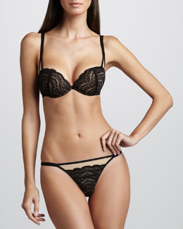 Cosabella Elise Push-Up Bra & Low-Rise Thong