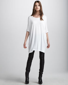 Vince Caftan Tee & Motocross Leather Jeans