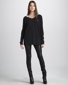 Vince V-Neck Sweater & Motorcross Jeans