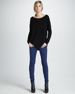 Vince Boat-Neck Sweater & Five-Pocket Skinny Jeans
