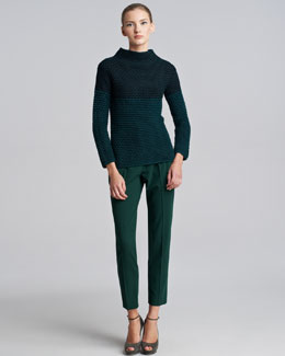 Piazza Sempione Colorblock Knit Sweater & Marion Straight-Leg Pants