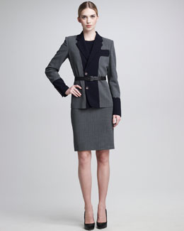 Jean Paul Gaultier Patchwork Jacket & Colorblock Sheath Dress