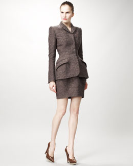 Stella McCartney Tailored Jacket with Peplum Shape & Tulip-Shape Skirt