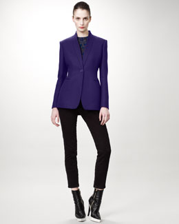 Stella McCartney Shawl-Lapel Jacket, Sleeveless Damask Top & Cropped Skinny Jeans