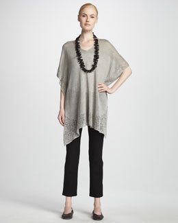Eileen Fisher Lace Trim Tunic & Skinny Ankle Pants
