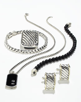 David Yurman Tag Necklace, Spiritual Bead Bracelet, Money Clip, Chain Bracelet & Cuff Links