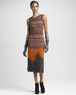 Missoni Sleeveless Knit Midi Dress & Opera-Length Leather Gloves